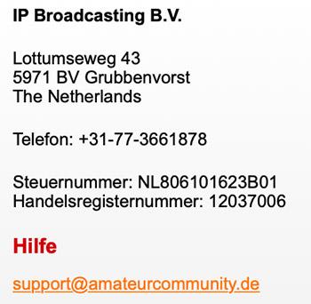 Amateurcommunity profil löschen